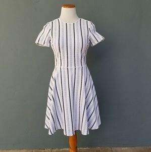 Opening Ceremony Dresses - Opening Ceremony Fit n Flare Striped Dress